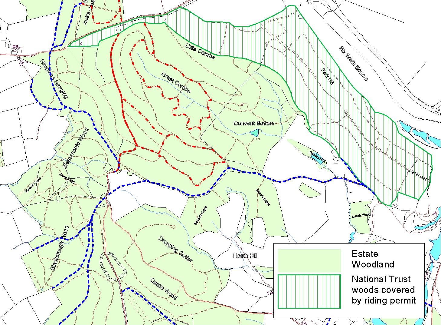 stourhead western estate map